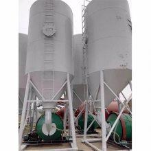 干混移动搅拌筒砂浆设备 散装干混砂浆/粉煤灰储料罐