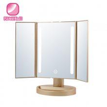 江苏带灯化妆镜生产厂家镜宝明化妆镜BM-1631智能美妆镜led灯化妆镜子ABS材质