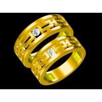 紫铜蓝牙订婚戒指定制 亮闪闪的戒指 —水晶首饰定做厂家