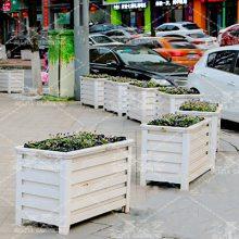 北嘉铝合金花箱定制长方道路隔离公园广场护栏花箱市政写字楼绿化花箱