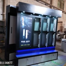 成都 安防门锁展示柜 纽威尔 智能锁展示柜设计规划