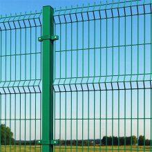 水库绿化交通设施框架护栏网 绿色包塑围栏网 山林养殖场带框护栏