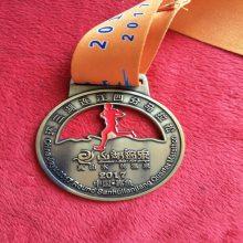 双色电镀奖牌制作 仿古青铜奖牌定制 镂空纪念挂牌制作