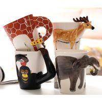 创意牙杯3D立体纯手绘陶瓷杯马克杯咖啡水茶杯子定制广告礼品批发