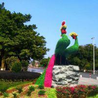 四川仿真绿雕,2019年主题仿真绿植造型,垂直景观雕塑