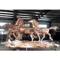 铸铜马雕塑 锻铜马动物雕塑 河北博古铸铜厂家