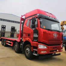 解放锡柴350大动力挖机拖车|J6P前四后八挖掘机板车型号详细介绍