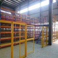 厂房隔断围网 仓库框架护栏网 浸塑铁丝护栏网