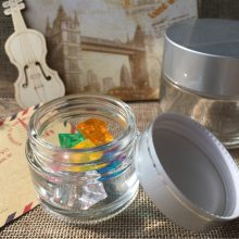 供应 透明膏霜分装瓶 玻璃面膜瓶空瓶亚银铝盖面霜小瓶20克50克100装