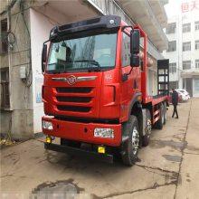 解放天V四桥重载型挖机拖车 搭载潍柴375大马力发动机挖机板车价格