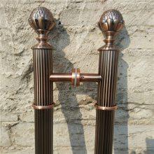 铜门红古铜不锈钢拉手 肯德基推拉玻璃门用仿古铜拉手 带花纹蚀刻