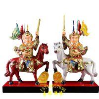 30公分骑马将军,武将神像树脂玻璃钢彩绘河南亚博里面的AG真人厂批发