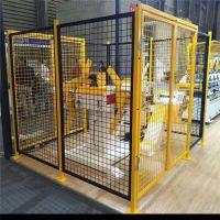 移动式车间隔离网 仓库框架护栏定做 绿色铁丝围栏网