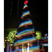 山东忠美工艺品有限公司制作大型圣诞树灯光节造型商业美陈等展览道具