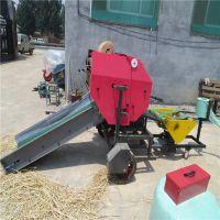 东北苞米秸秆储存包膜机 青草料麦垛粉碎全自动打捆机 中泰机械