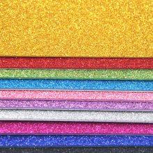 A4金葱海绵纸不带背胶珠光厚闪光纸金粉泡沫纸EVA儿童手工DIY材料