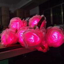 外控七彩LED玫瑰花灯 景观亮化草坪装饰灯 512七彩LED芦苇灯