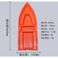 涿州厂家直销3.2米异形塑料钓鱼船、垂钓小船、充气船、塑料渔船、打鱼船