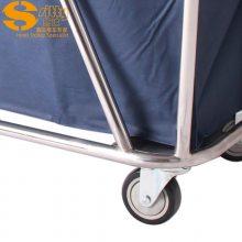 专业生产SITTY斯迪90.3202H不锈钢斜柱布草车/服务车/清洁服务车