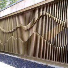 钛科现代简约抽象山峦宝塔浮雕不锈钢背景墙屏风