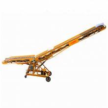移动式化肥传送输送机 双翼型带式输送机厂家 6m+6m双变幅皮带机