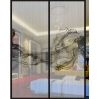 誉华召创供应双层夹胶/3D平板打印/推拉门/私人定制/极窄边框简约美观