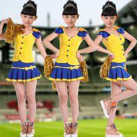 新款特价啦啦操舞台表演服男女童足球宝贝啦服篮球啦啦服表演服童