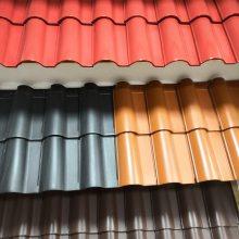 陶瓷双拱瓦屋面陶瓷瓦屋面釉面彩瓦价格山东淄博琉璃瓦厂家