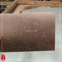 发黑304不锈钢镀铜板 不锈钢拉丝红古铜 不锈钢拉丝青古铜无指纹