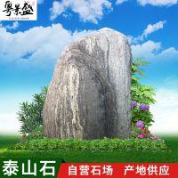 广东天然泰山石、假山大型园林工程造景花纹石、公园盆景驳岸景观石