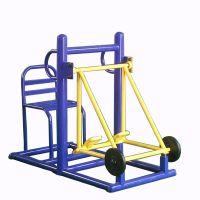 厂家直销 户外健身器材 户外学校露天广场老人锻炼健身路径蹬力训练器双人坐蹬器JY-457