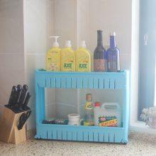 卫生间置物架 多层夹缝篮 多功能置物架 厨房储物篮 三层置物架