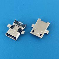 MICRO破板式加长11.38mm母座/高仿ACON/斜口/前插后贴SMT/贴板式