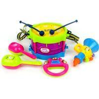 儿童摇铃玩具 婴幼儿音乐5件套装组合 宝宝手敲发声乐器摇铃玩具