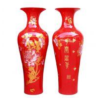定制景德镇陶瓷落地大花瓶 孔雀陶瓷大花瓶 商务礼品