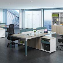 现代办公家具 板式屏风工作台 对座4人位 职员桌 办公组合
