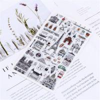小马百货 创意文具批发 新款 旅行日记手账贴纸 DIY装饰贴纸
