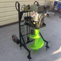 新型钻孔机钻冰机 手提式破冰机如何使用 驰航果园施肥手提挖坑机