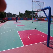 塑胶篮球场地 篮球场7码倍投方案表报价 olychi奥丽奇