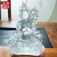 南宁寺庙琉璃佛像厂家 生产白度母佛像私人供养法会佛教用品