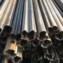 山东聊城冷拔异型钢管厂家@镀锌马蹄管定尺#冷拔异型管价格