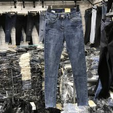 湖北武汉哪里有低价牛仔裤清仓10元以下高腰修身小脚裤百搭黑色铅笔裤工厂批发
