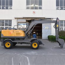 轮挖什么牌子好 85挖掘机轮式 轮式小挖机价格 85小型轮挖