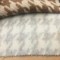 日本进口千鸟格拉毛面料羊毛大衣布料现货