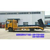 解放J6单桥拖板车 背150挖机拖车 1.0L平板运输车多少一辆