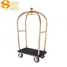 专业生产SITTY斯迪91.2021S金属钛金不锈钢手推行李车