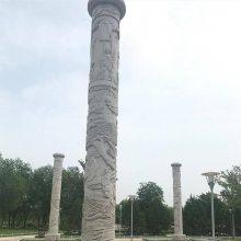 景区石龙柱石头龙柱安装 花岗岩石龙柱厂家报价