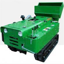 履带式的农用开沟机 果园施肥快速开沟机 柴油动力旋耕机