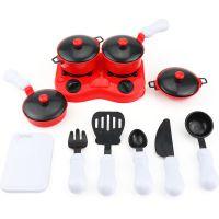 儿童仿真过家家厨房玩具餐具11件套厨具套装宝宝益智玩具塑胶玩具