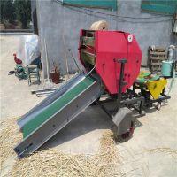 寒冬腊月牛羊也能吃上鲜草料的包膜机 全自动液压打捆机 中泰机械